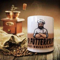 Kaffeetassen für Futterkrippe
